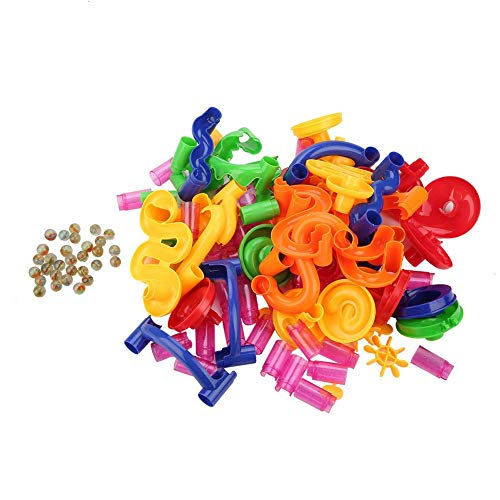 Zerodis Marmor Run Spielzeug BAU Bausteine   Spielzeug STEM pädagogisches Lernen Spielzeug Geschenk für Junge Mädchen Alter 4 5 6 7 8 9 Jahre alt (105PCS(678-7))