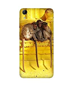 Cozy Monkeys Back Cover Case for HTC Desire 728