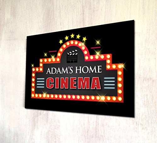 e Cinema Pub A4 Metall Schild Art Wand (Kino Drucken)