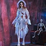 Mjia Cloth Costume di Halloween, Gioco di Ruolo Horror, Divisa di Zombie Femmina, Costumi, A, L