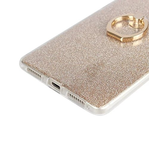Luxus Bling Sparkle Style Case, Soft TPU [Silikon] Flexible Glitzer Rückentasche [Anti Scratch] mit Fingerring Stand für Huawei MATE S ( Color : Blue ) Gold