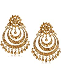 Zaveri Pearls Chand Bali Earrings for Women (Golden)(ZPFK7152)