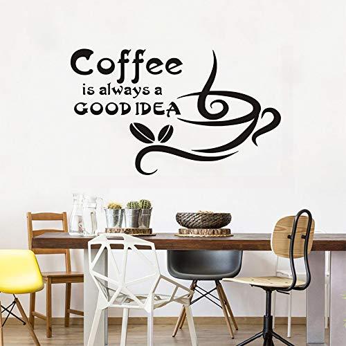 Wandaufkleber kaffee ist immer eine gute idee für café abnehmbare tür fenster dekoration wand dekor kunst 30 * 42 cm