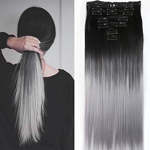 Neverland Beauty 24 Inches (60cm) Full Head 7 Pieces 16 clips Clip in Hair 445bd9847201