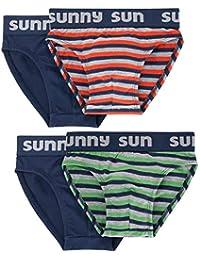 Sammy Sun Jungen Slip,4 Pack,Baumwolle,bequemer Basic f/ür jeden Tag