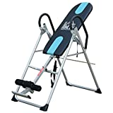 HOMCOM Gravity Inversion Table Foldable Therapy Bench Home Fitness Upside Down Stretching Black