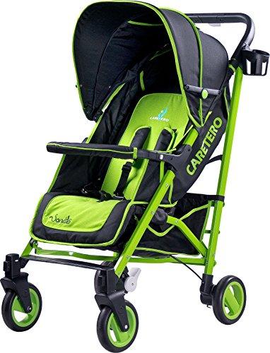 Caretero Sonata Cómodo y práctico Buggy con estructura de aluminio verde verde Talla:Grün
