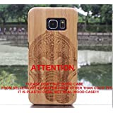 Galaxy S7 case, S7 Wooden Case Wood Cover CoCo@100% Unique Genuine Handmade Natural Wood Wooden Hard Bamboo Shockproof Case Like as Artwork for New Samsung Galaxy S7 G9300 (2016)(Elephant with Bamboo)