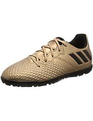 adidas Kinder Fussballschuhe MESSI 16.3 TF J COPPMT/CBLACK/SGREEN 38 2/3