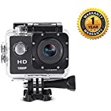 Raptast 1080P 2-Inch LCD 140 Degree Wide Angle Lens Waterproof Diving (upto 30m) Action Camera Compatible With All Smartphones. (One Year Warranty)