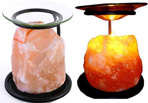 Öllampe/Teelichthalter/Duftlampe/Stövchen aus natürlichem Himalaya-Salzstein, Auch für Duftwachs von Yankee Candle, aus der Klass Home Collection (Wärmer Duftlampe)