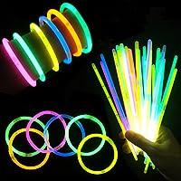 """V-VAPE 8"""" Glow Sticks Bracelets Necklace Party Favors Neon Color Connectors (200 STICKS)"""
