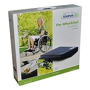 TEMPUR® Rollstuhlkissen gewölbt, Größe:43 x 43 x 9/5 Jersey
