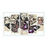 Broadroot Bunte Schmetterling 5D DIY Vollbohrer Diamant Malerei 5-Bilder Kombination Handwerk Kreuzstich Kits Set Stickerei Home Decor Geschenk (02)
