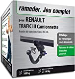 Attelage Amovible pour RENAULT TRAFIC III Camionnette + faisceau 7 broches...