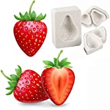 foviupet 3Strawberry Design Silikon Form 3D Schokolade Form DIY Kuchen Backen Werkzeug