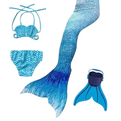 Für Kostüm Jahre Alt 8 - DECOOL 2018 Neu Mädchen Meerjungfrau Schwanz Badeanzug - Prinzessin Cosplay Bademode für das Schwimmen mit Bikini Set und Monoflosse,3-12 Jahre alt
