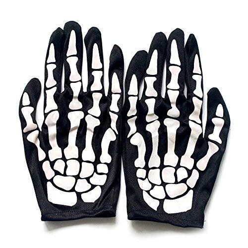 HermosaUKnight Terror Skeleton Handschuhe Ghost Bones für Erwachsene -