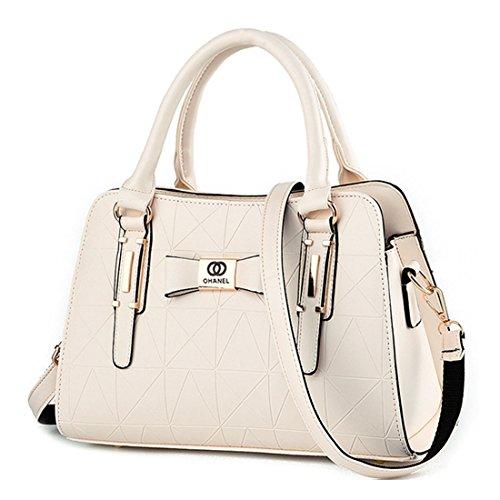 Alidier Neue Marke und Qualität 2016 Neue Damen Shopper Ledertaschen Handtaschen Umhängetasche Schultertasche Tote Bag Beige