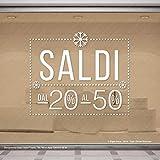 dc25a91a688301 Gigio Store Adesivi Vetrofania Sconti Invernali, Adesivo Removibile per  Vetrine Negozi, Sticker Vetro Scritte