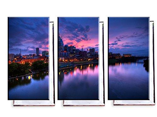 Unified Distribution Nashville USA - Dreiteiler (120x80 cm) - Bilder & Kunstdrucke fertig auf Leinwand aufgespannt und in erstklassiger Druckqualität