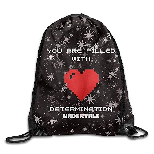 ZHIZIQIU 3D Print Drawstring Bags Bulk, Undertale Heart Unisex Drawstring Bag for Men Women Size: 4133cm -