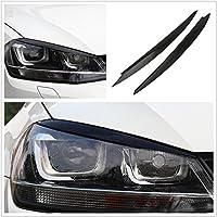 Flash2ning - Faros delanteros para VW Golf 7 VII GTI R MK7, color negro