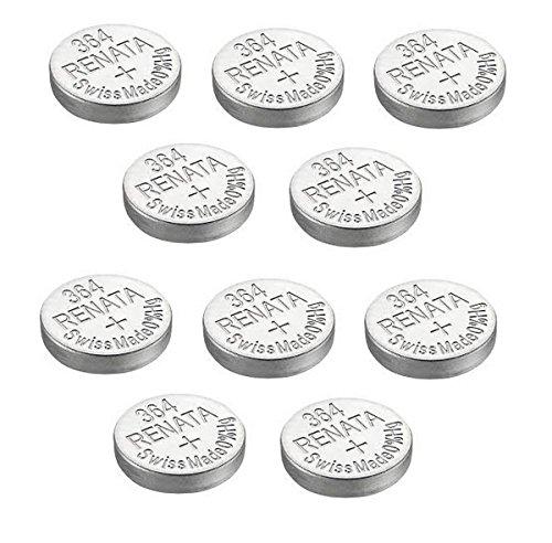 Renata - 10x Armbanduhren Batterien Silber Oxyd In Der Schweiz Hergestellt 0% Quecksilber Langlebig - Silber, 10 x 364 oder SR621SW oder AG4