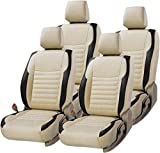 #7: Car Leather Seat Cover (Beige & Black) Semi Bucket For- Maruti Swift Dzire Old - Sft-01 (By Lowrence)