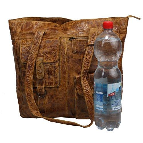 Billy the Kid Avery Sac à main porté épaule cuir 34 cm honey