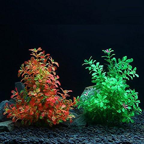 XJoel Simulation plantes aquatiques souche plastique aquarium de poissons d'ornement réservoir décor