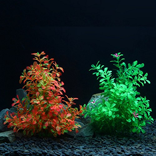 XJoel Simulation Aquatic Plastic Pflanzen Stumpf Aquarium Fisch Tank Ornament Dekor (Tank Kinder Für Betta)