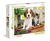 Clementoni - Puzzle de 1000 Piezas,, diseño El Perro Y El Gato (392704)