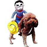 MIOIM Ropa de Perros,Divertido Disfraces de Mascotas Perro Ropa de Vaqueros Abrigos Chaqueta para pequeño Mediano Grandes Perros