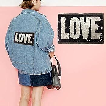 Westeng vestiti toppe termoadesive o da cucire Love ricamato toppa  distintivi vestito giacca camicia jeans cappello 7500f81a33af