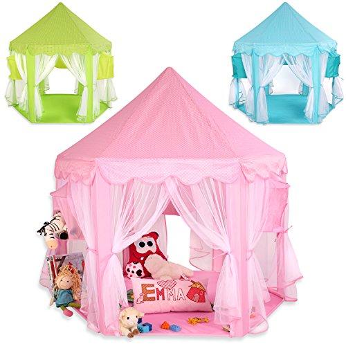 Preisvergleich Produktbild KIDUKU® Kinderspielzelt Spielschloss Prinzessinenschloss Spielzelt Bällebad Spielhöhle mit Hängenetzen, in 3 Farbvarianten (Grün)