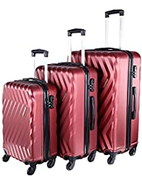 Nasher Miles Lombard Hard-Side Luggage Set of 3 Trolley Luggage Bags (55 614de582e31ca