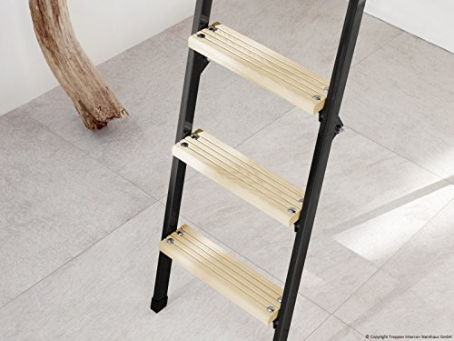 Profigold Sliding Timber Loft Ladder Mini 4 Set with Accessories in 4 Sizes – Up Room Height 265) 4ft