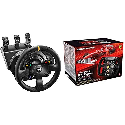 Thrustmaster Tx Rw Volante, Leather Edition - Xbox One/PC + Volante Ferrari F1 Wheel ADD-ON PC/PS3/PS4/Xbox One
