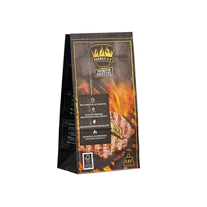 Barbec U Premium Holzkohlebriketts Grillkohle Grillbereit In Ca 35 Minuten Fsc Zertifiziert Hochwertige Kohle Zum Grillen