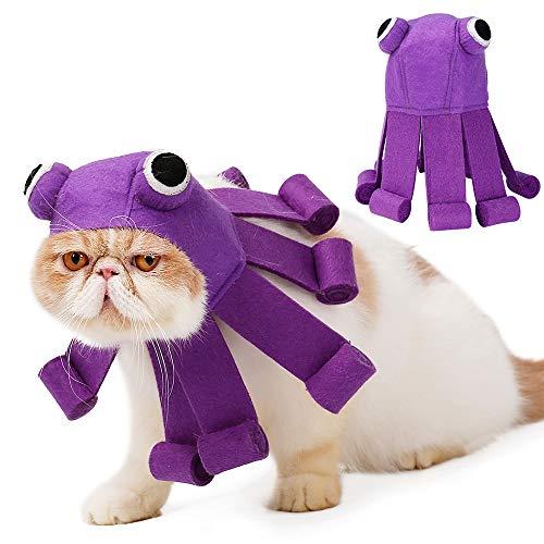 Einfach Kostüm Krake - JuneJour Haustier Kraken Hut Katzen Welpen Kleine Hunde Halloween Weihnachts Party Cosplay Kostüm
