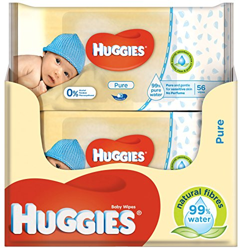 Huggies Pure feuchte Baby Pflegetücher, 10er Pack...