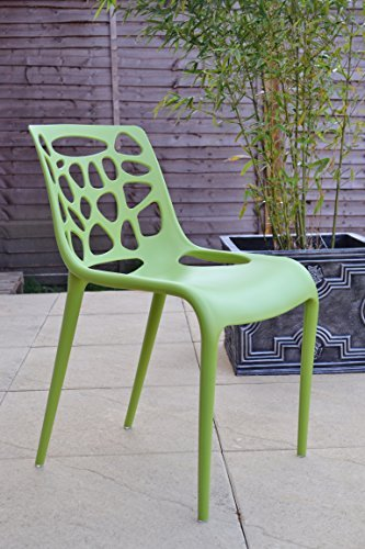 Designer Green Funky Hero Stacking Chair Study Computer Dining Restaurant Cafe