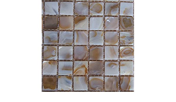 Piastrelle a mosaico in madreperla effetto letto di fiume nature