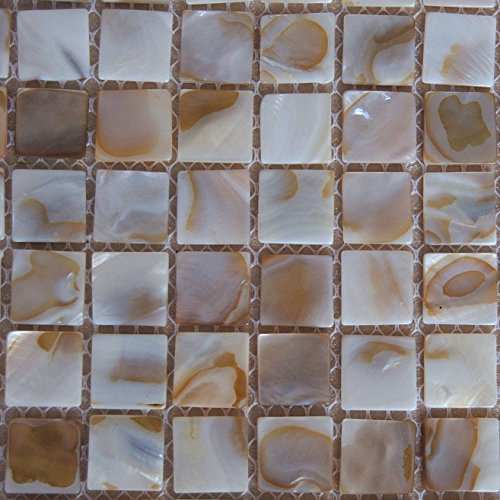 Mother of Pearl Mosaic Tiles River Bed Nature Pearl Shell Mosaic Tiles for Spas / Pools / Bathroom Walls / Kitchen Backsplashes One Sheet