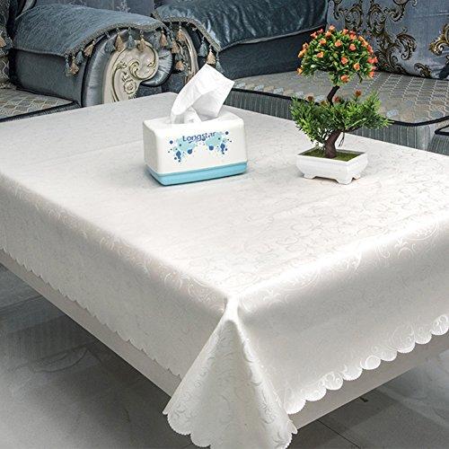 LÄndlichen,Runde Restaurant Tischdecke/Längliche Tischdecke-P - Tischdecke Runde Ivory 120
