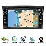 YUNTX Android 9.0 Autoradio Compatibile con Opel Astra/Meriva/Corsa/Zafira- 4G64G - GPS 2 Din - Telecamera Posteriore Gratuiti - Supporto DAB + / DVD / 4G / WiFi/Bluetooth/Mirrorlink/Carplay/USB