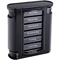Schramm® Tablettenbox schwarz mit schwarzen Schiebern 7 Tage Pillen Tabletten Box Schachtel Tablettendose Pillendose... preisvergleich bei billige-tabletten.eu