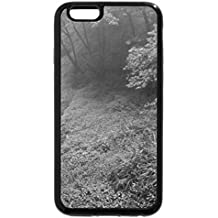 iPhone 6S Plus Case, iPhone 6 Plus Case (Black & White) - Remote mountains waterfall streams