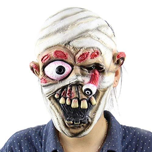 Kostüm Beängstigend Adult - ZXIU Masken für Kostüme Maskerade Masken Beängstigend Adult Latex Creepy Party Scary Mask Kostüm